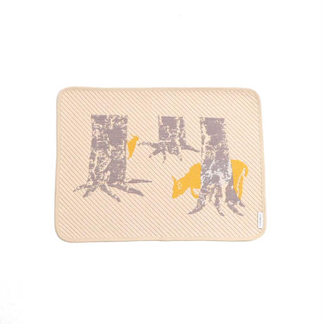 hide and seek DEER place mat | deer and bird