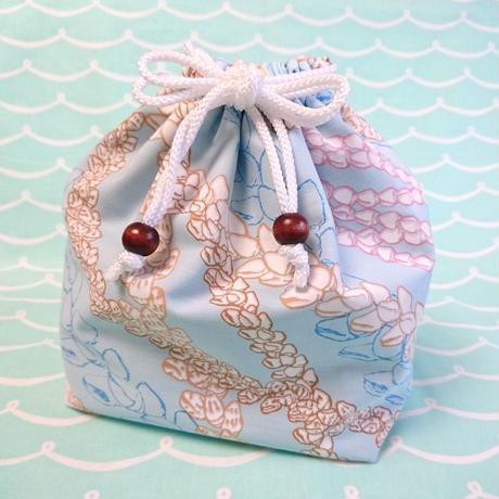 お弁当巾着袋 (シェルレイ ブルー)