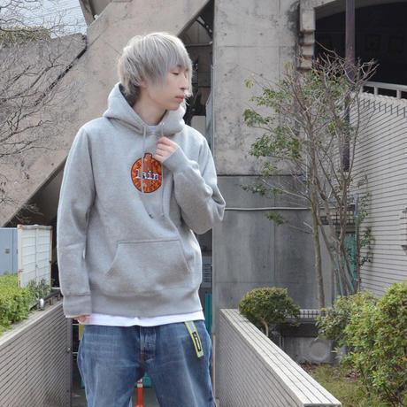 【messa store】Cyberia Bear mix プルオーバーパーカー -GRAY-