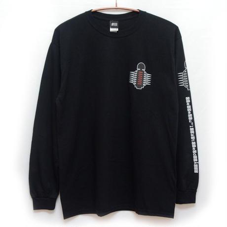 【NUMBER3】Black Accela ロングスリーブTシャツ-BLACK-