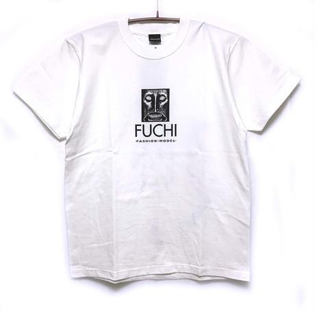 淵さんフェイスTシャツ-WHITE-