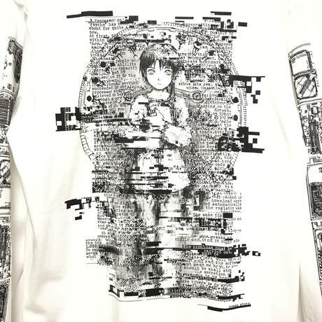 【messa store】Psyche ロングスリーブTシャツ-WHITE-