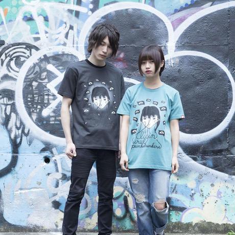 【PUNK DRUNKERS】lain Tシャツ-SAGE BLUE-