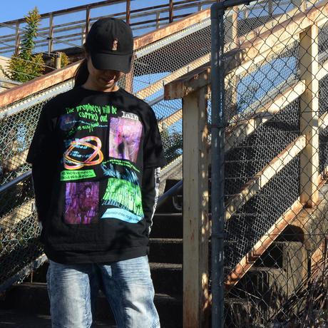 【messa store】Distortion mind Tシャツ-BLACK-