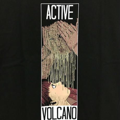 グリセリド活火山Tシャツ-BLACK-