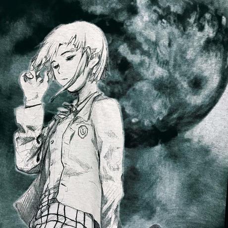 【CHAOSMARKET】Moon Tシャツ-BLACK-