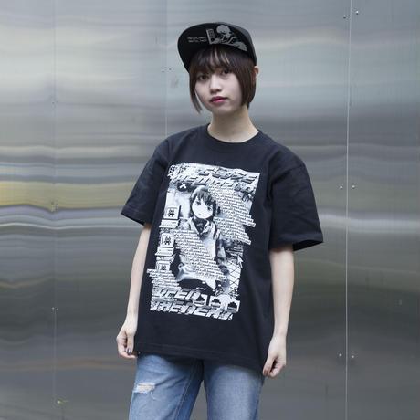 【NC帝國】Let's All Love Lain! Tシャツ-BLACK-