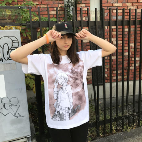 【CHAOSMARKET】Moon Tシャツ-WHITE-