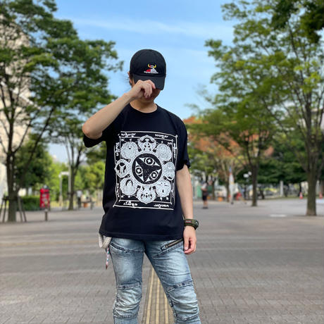 【messa store】暗黒ホエールズ曼荼羅Tシャツ-BLACK-