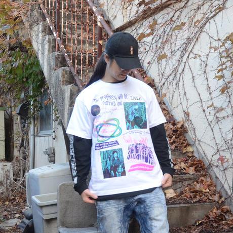 【messa store】Distortion mind Tシャツ-WHITE-