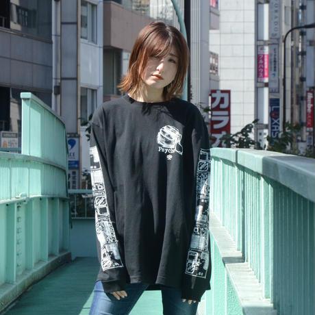 【messa store】PsycheロングスリーブTシャツ-BLACK-