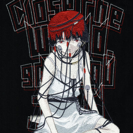 【messa store】serial experiments lain 刺繍パーカー-BLACK-(限定70着)