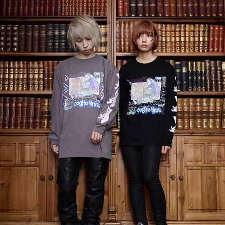 【messa store】PINO ロングスリーブTシャツ BLACK