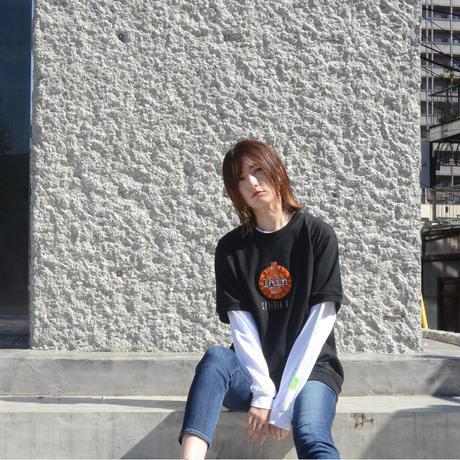 【messa store】Cyberia Bear mix Tシャツ-BLACK-
