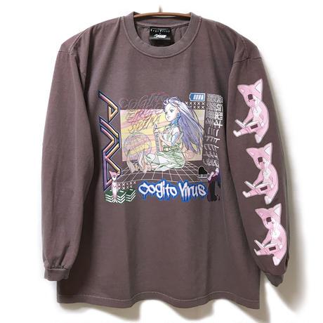 【messa store】PINO ロングスリーブTシャツ SMOKE PINK