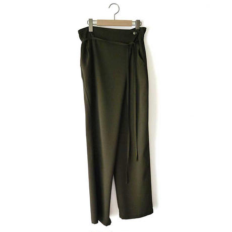 Dry touch natural stretch georgette  pants HA01FP01