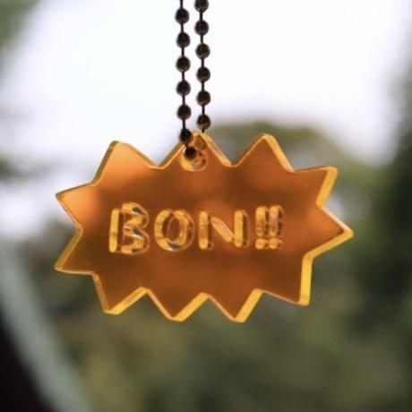 BON!!キーホルダー[英語・オレンジ]