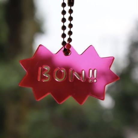 BON!!キーホルダー[英語・ピンク]