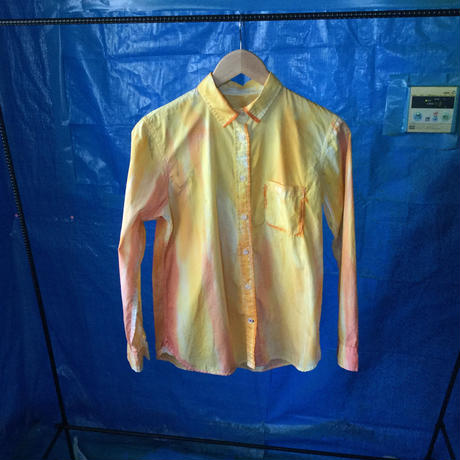 長袖染シャツ