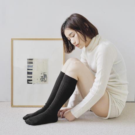 メリノウールリブハイソックス /  Merino Wool Ribbed High Socks