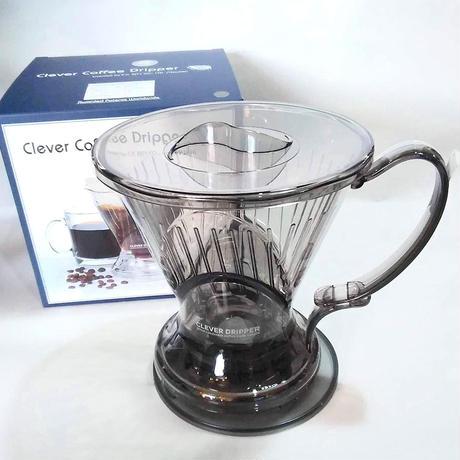 クレバーコーヒードリッパー Lサイズ (1~4人用 カラー 半透明ブラック)