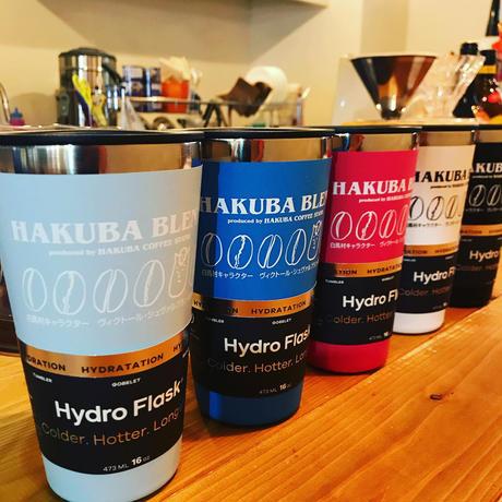 白馬村のゆるキャラ村男をプリントしたオリジナルタンブラー HAKUBA COFFEE STAND×村男×Hydro Flask