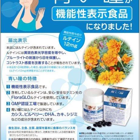 【初売りスーパーセール】ルテインサプリメント機能性表示食品「青い瞳」6箱セット