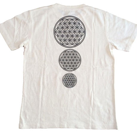 Flower of Life no.2 Charcoal and hemp ink HempT-shirts