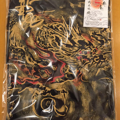 T-shirts men Dragon part2 black Japanese sumi-e Art