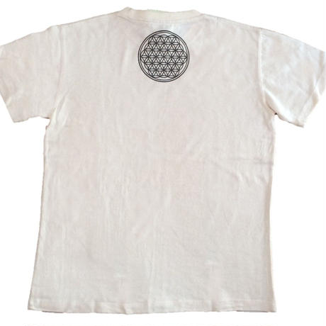 Flower of Life no.1 Charcoal and hemp ink HempT-shirts
