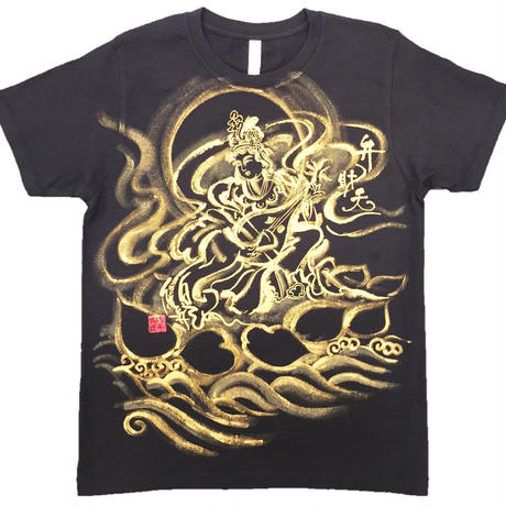 T-shirts Benzai-Ten Japanese Sumi-e Art black Handmade