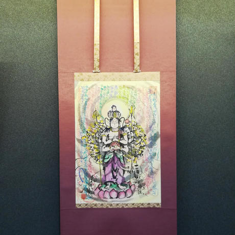Juichimen Senju Kannon hanging scroll