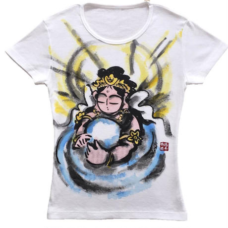 T-shirts ladies Hearts of Kannnon color Japanese Art