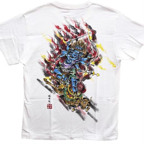 T-shirts men Daiitoku Myo-O color Buddhist Japanese sumi-e Art