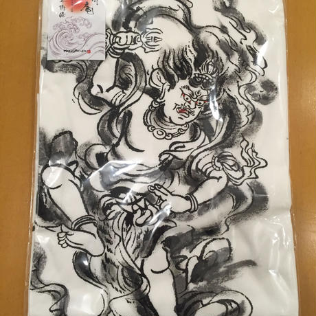 T-shirts men Zao-Gongen white  Buddhist Japanese sumi-e Art