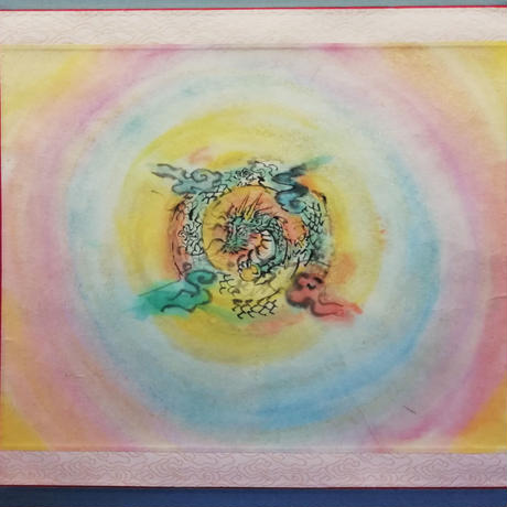 Dragon rainbow hanging scroll