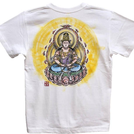 T-shirts men Dainichi-Buddha color Buddhist Japanese sumi-e Art