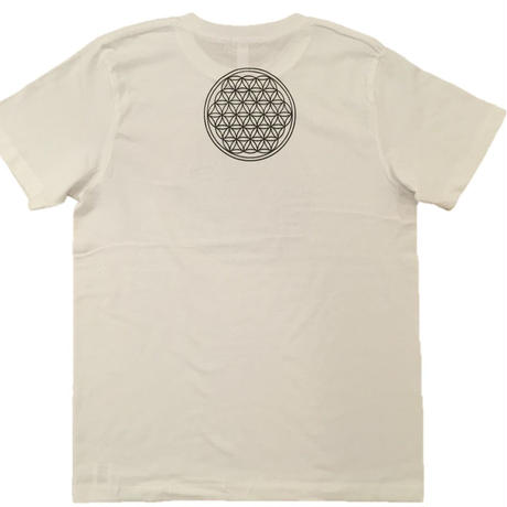 Flower of Life no.1 Charcoal and hemp ink CottonT-shirts