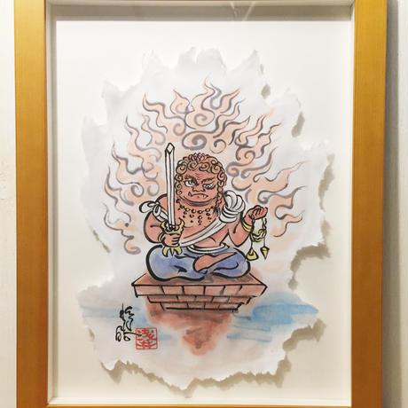 Fudo Myo-O Red picture of sumi-e art