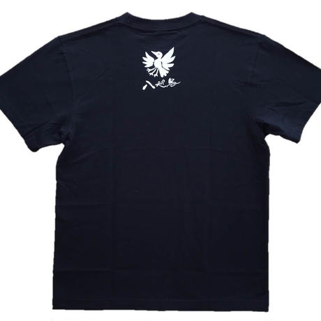 T-shirts men Yatagarasu crow white black
