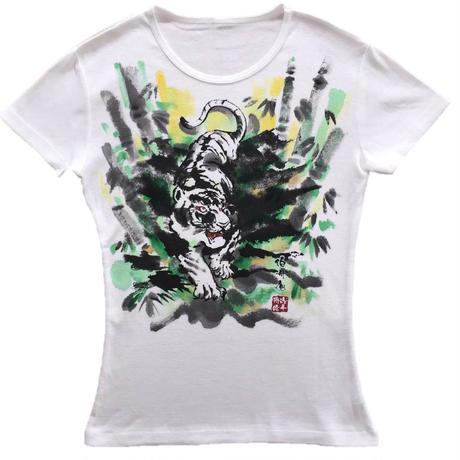 T-shirts ladies Tiger color Japanese Art