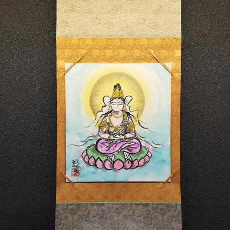 Dainichi Nyorai hanging scroll shikishi paper