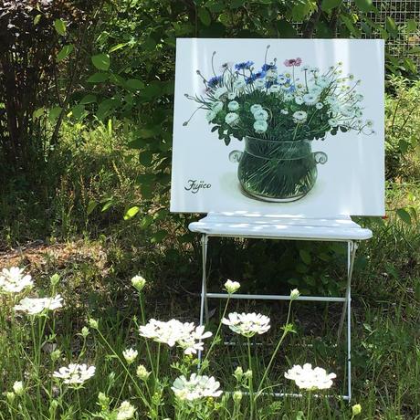 橋本不二子監修 額装作品『アンの庭から -バラ・New dawn,Pierre de Ronsard-』