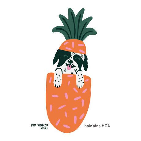 hale'aina HOA × Kim Sielbeck 'Ziggy Pineapple' T-Shirt