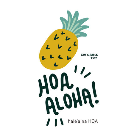 hale'aina HOA × Kim Sielbeck 'Hoa Aloha' T-Shirt