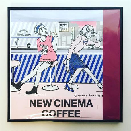 """リソグラフ・レコードジャケット作品 """"NEW CINEMACOFFEE・Convenience Store's Coffee"""""""