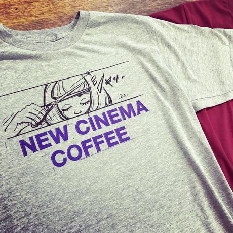 NEW CINEMA COFFEE T-shirts 2019◎ニューシネマ珈琲 Tシャツ・グレー