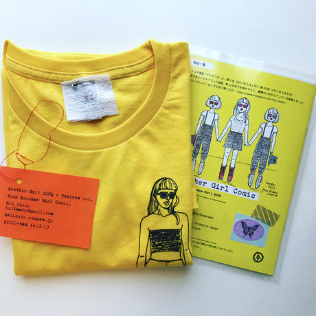 Another Girl ZINE + T-shirts セット・イエロー(WL)