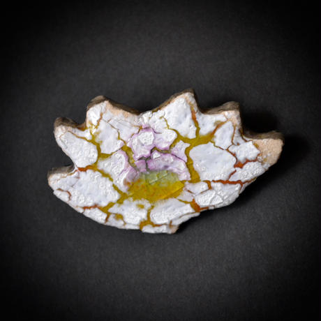 Brooch 'Flower of mission' white.