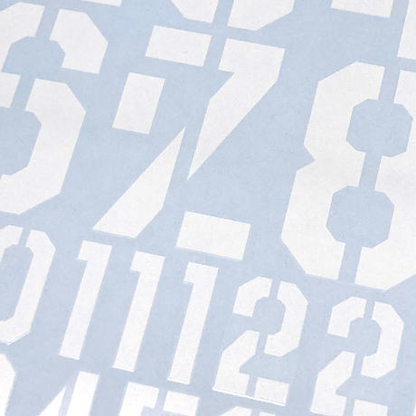 EIGHT TRADITIONAL NUMBER DECAL #2 LARGE